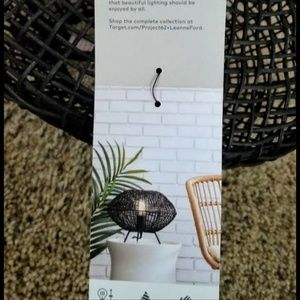 Project 62 Accents - Rattan Table Lamp NWT